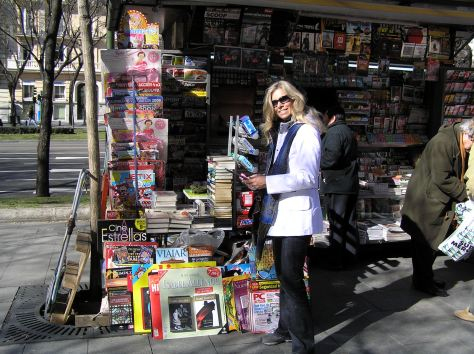 At a newspaper kiosk in Madrid, 2008.